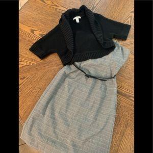 White House Black Market halter dress and sweater